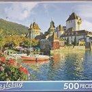 Puzzlebug 500 ~ Oberhofen Castle, Lake, Thun, Switzerland by LPF