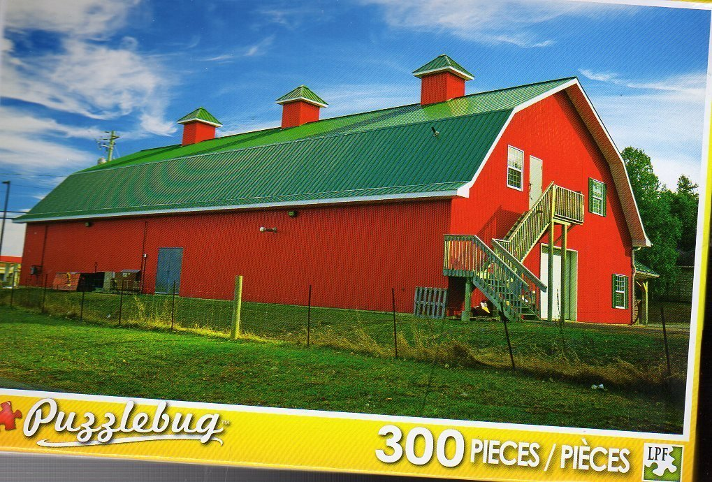Big Red Country Barn - Puzzlebug 300 Piece Jigsaw Puzzle