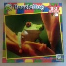 Puzzlebug 100 Piece Jigsaw Puzzle Red-eyed Tree Frog By LPF