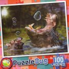 Hippos and Bubbles - Puzzlebug (100 Piece) Jigsaw Puzzle