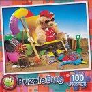 Puzzlebug 100 Piece Puzzle ~ Beachy Bear