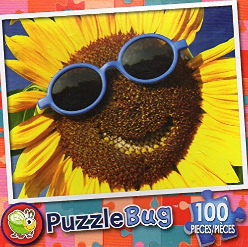 Happy Sunflower - Puzzlebug (100 Piece) Jigsaw Puzzle
