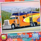 Big Orange Rig - PuzzleBug - 100 Piece Jigsaw Puzzle