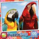 Colorful Parrots - PuzzleBug - 100 Piece Jigsaw Puzzle