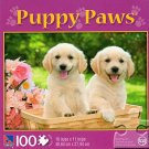 Puppy Paws - Golden Paws - 100 Piece Jigsaw Puzzle
