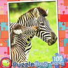 Mommy and Baby Zebra - 100 Piece Jigsaw Puzzle Puzzlebug