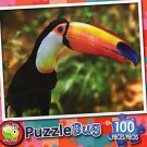 Colorful Toucan - Puzzlebug - 100 Pieces Jigsaw Puzzle