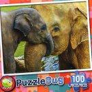 Elephant Cuddle - Puzzlebug - 100 Pieces Jigsaw Puzzle