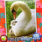Mother Swan and Baby - Puzzlebug - 100 Pieces Jigsaw Puzzle