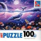Tropic Moonlight - 100 Pieces Jigsaw Art Puzzle