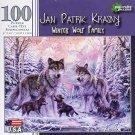 Jan Patrik Krasny - Winter Wolf Family - 100 Piece Jigsaw Puzzle