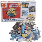 Minions- 4 Puzzle Pack (4 X 12) - I speak Minion