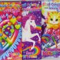 Lisa Frank coloring book, activity book, and water coloring book set