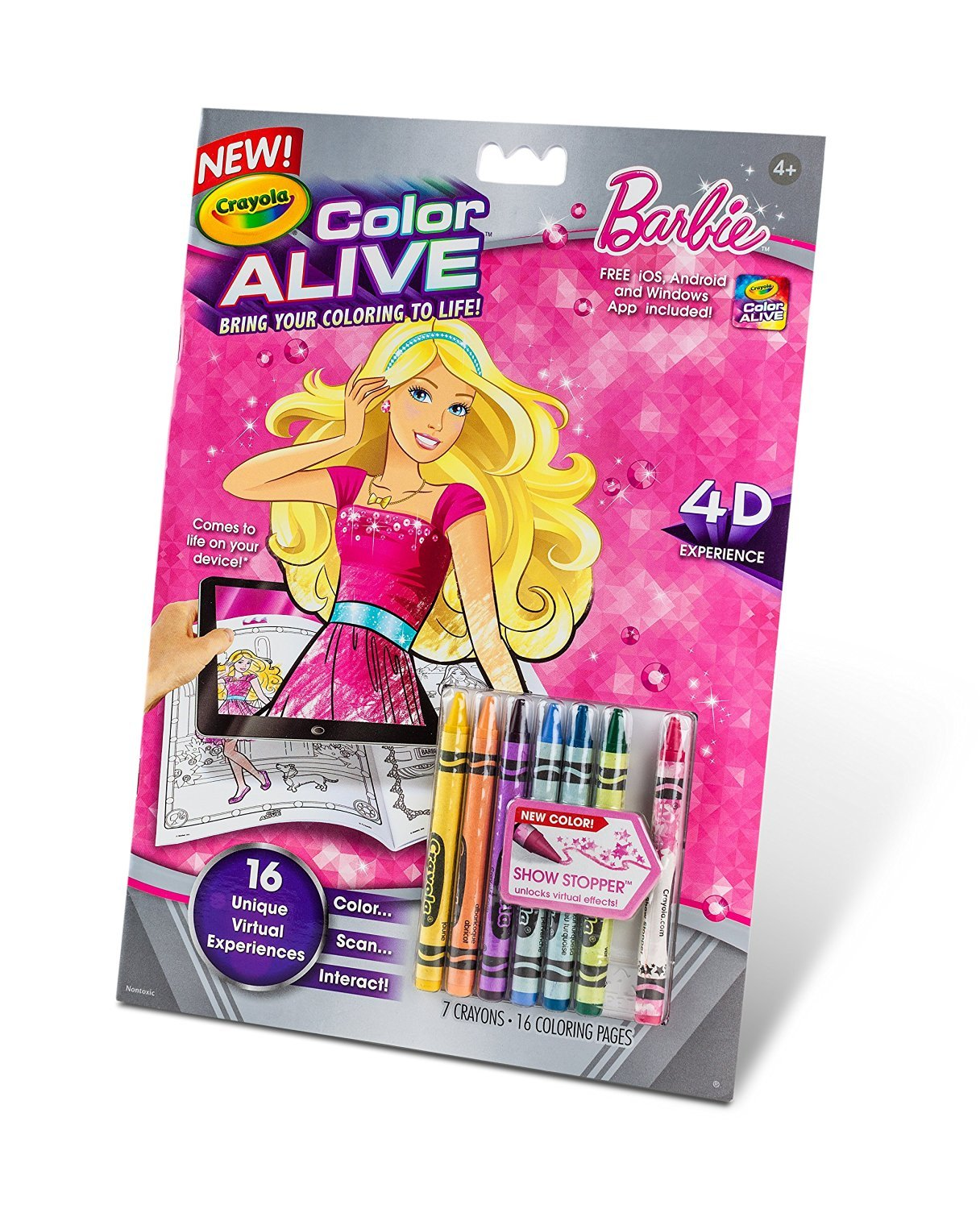 Crayola color alive action coloring pages barbie for Crayola color alive coloring pages