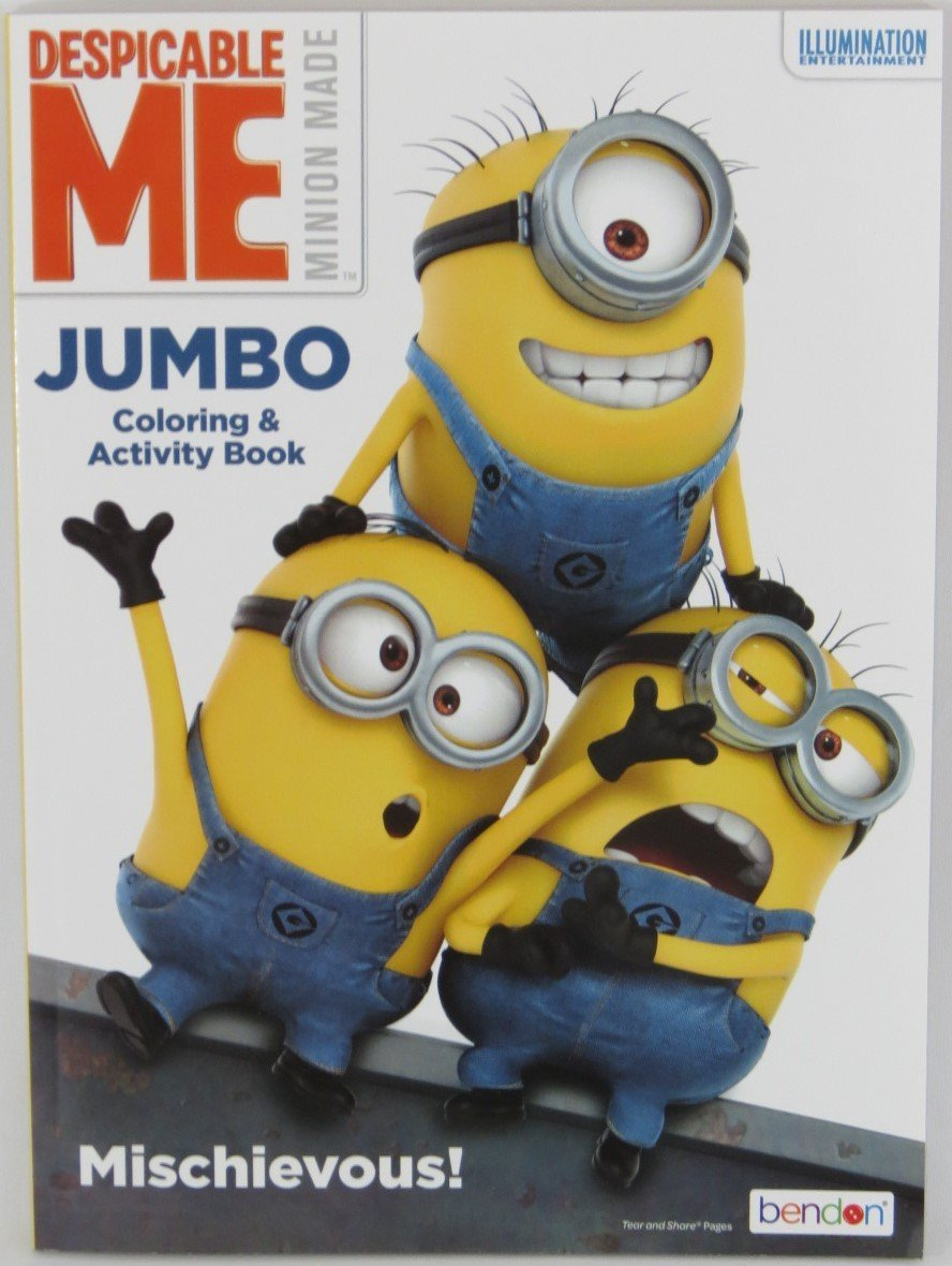 Minions Despicable Me Jumbo Coloring and Activity Book