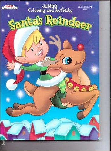 Kappa Jumbo Coloring & Activity Book ~ Santa's Reindeer