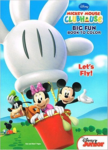 Mickey Mouse Clubhouse Big Fun Book to Color ~ Let's Fly!