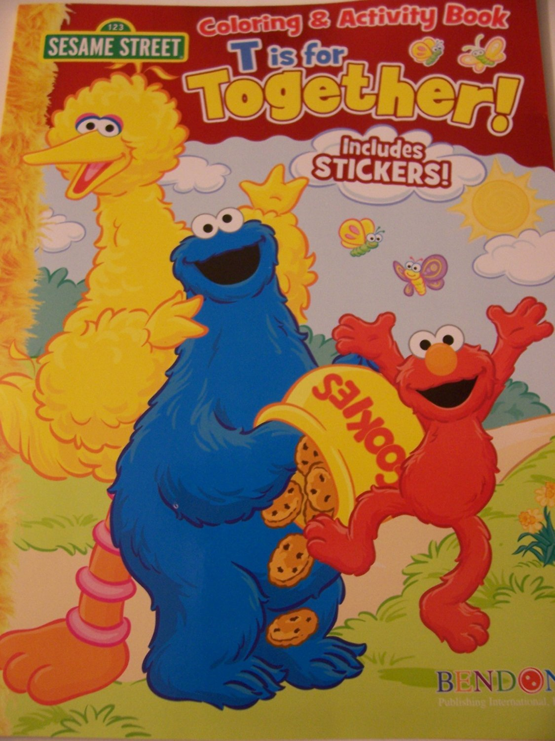 Sesame Street Coloring & Activity Book with Stickers ~ T is for Together!