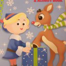 Rudolph The Red-Nosed Reindeer Coloring & Activity Book ~ Hermey and Rudolph on Blue