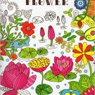 Adult Coloring Book - Flower - v1