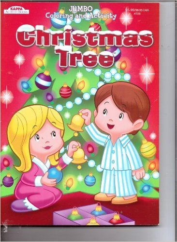 Kappa Jumbo Coloring Activity Book Christmas Tree