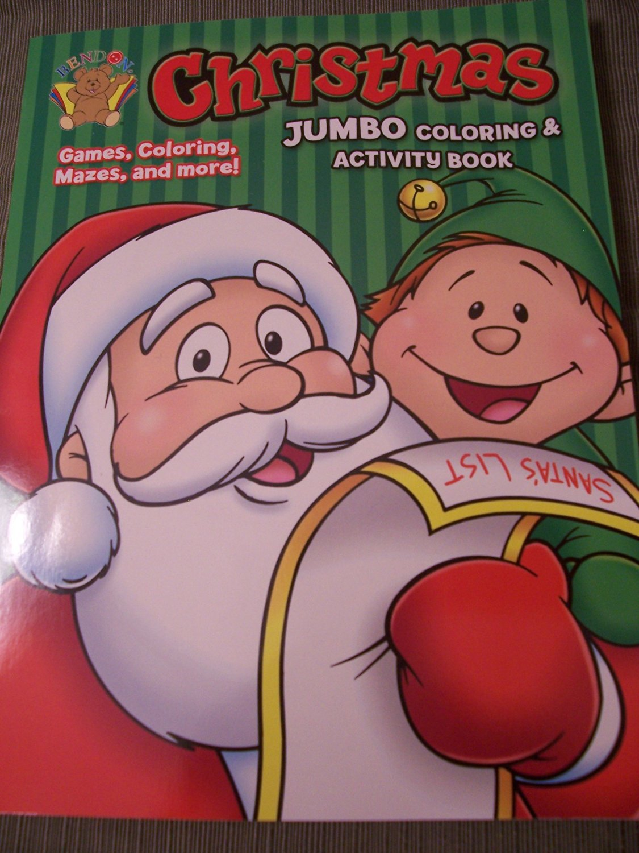 Christmas Holiday JUMBO Coloring & Activity Book