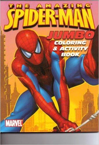 Spider-Man Jumbo Coloring & Activity Book ~ Orange