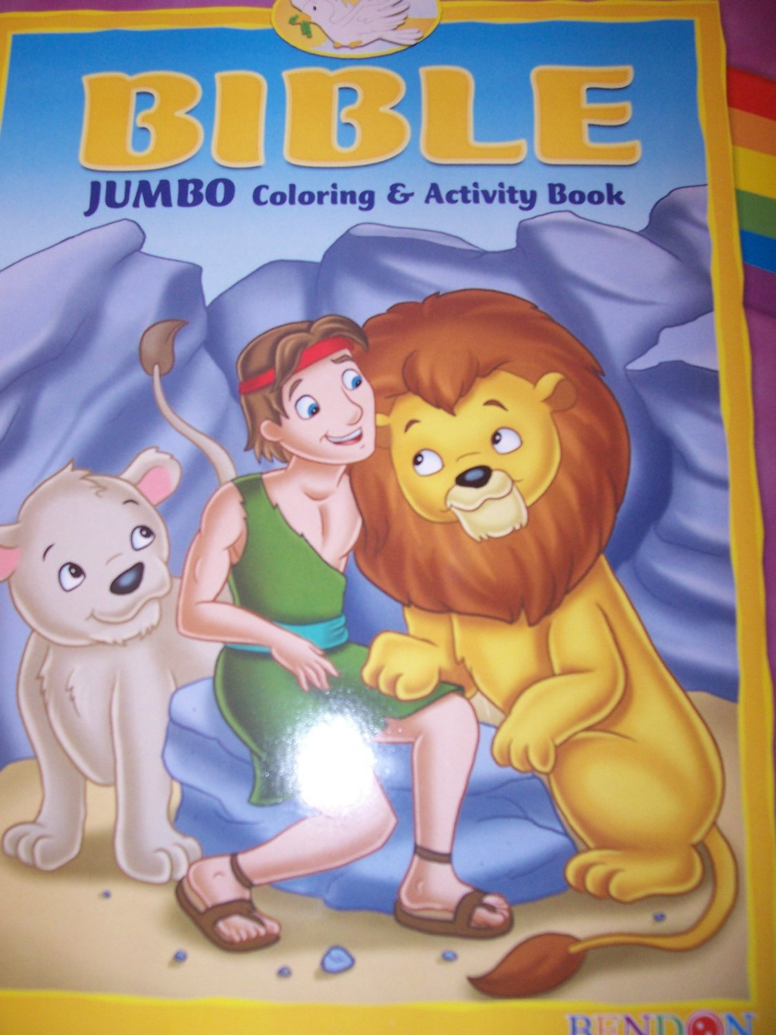 Bible Jumbo Coloring & Activity Book ~ Cave with Animals