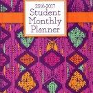 2016 - 2017 Student Monthly Planner Calendar