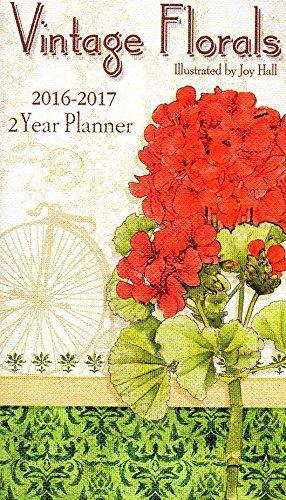 Vintage Florals - 2016 - 2017 2 Year Monthly Planner