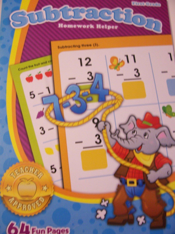 Homework Helper ~ Subtraction (First Grade; 2012 Edition). Workbook