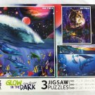 John Enright Glow in the Dark 3 Jigsaw Puzzles by Ceaco