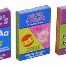 3 Educational Card Games (ABC's, Shapes and Colors, Sight Words) - Assorted