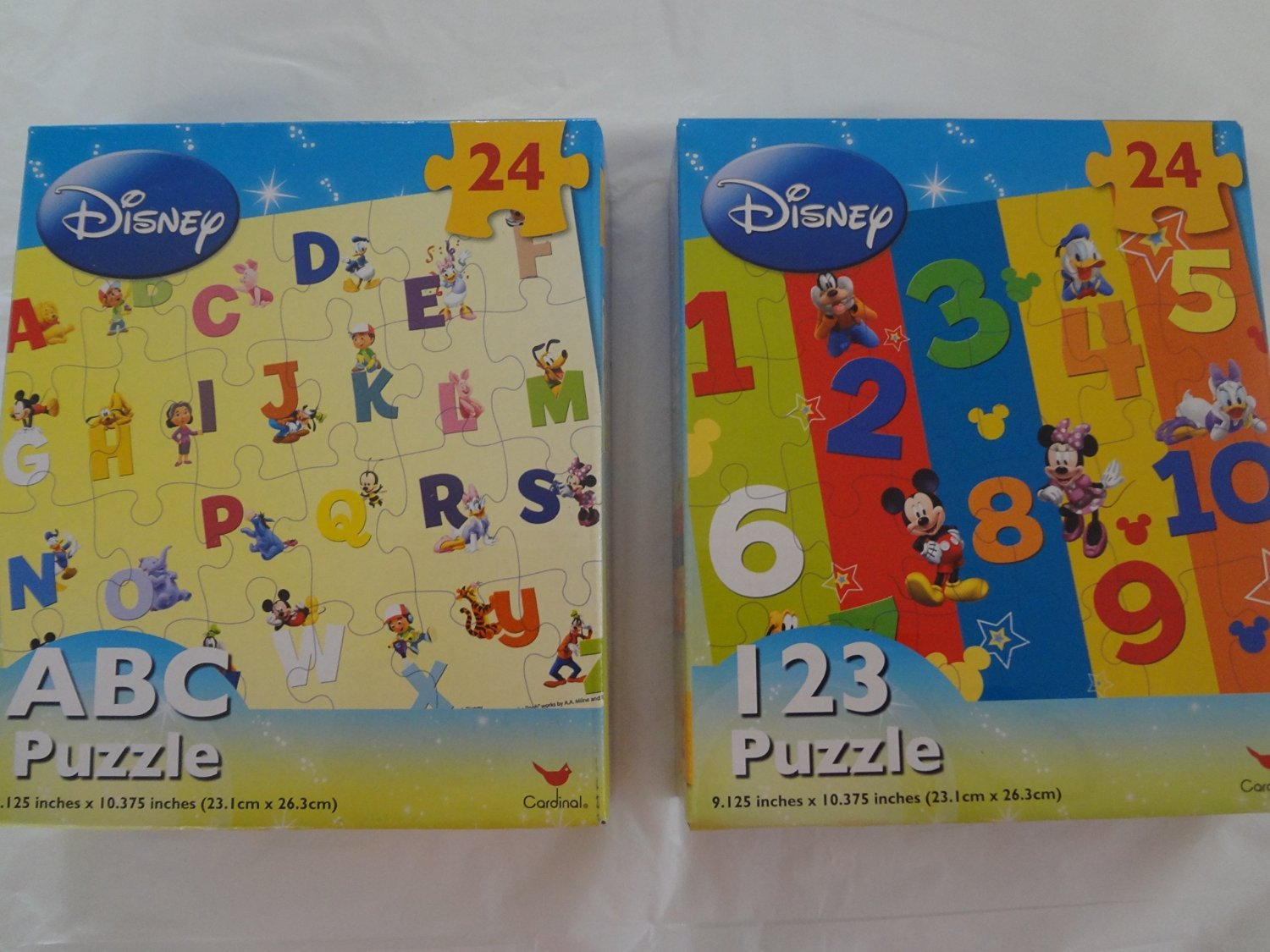 Disney ABC and 123 Puzzles 24 Piece - Assorted