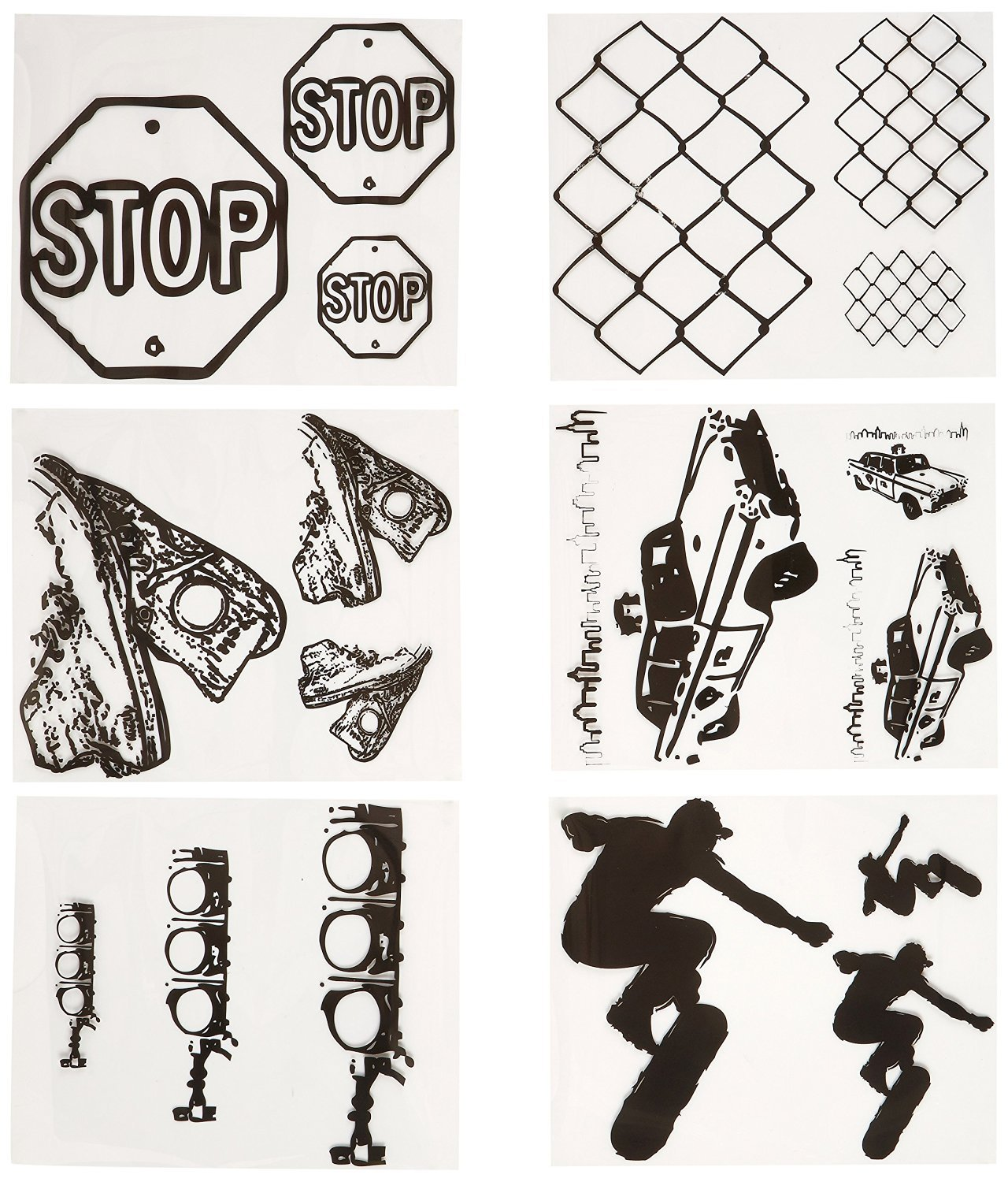 Yudu Art Transparencies, Urban Street, Set of 6