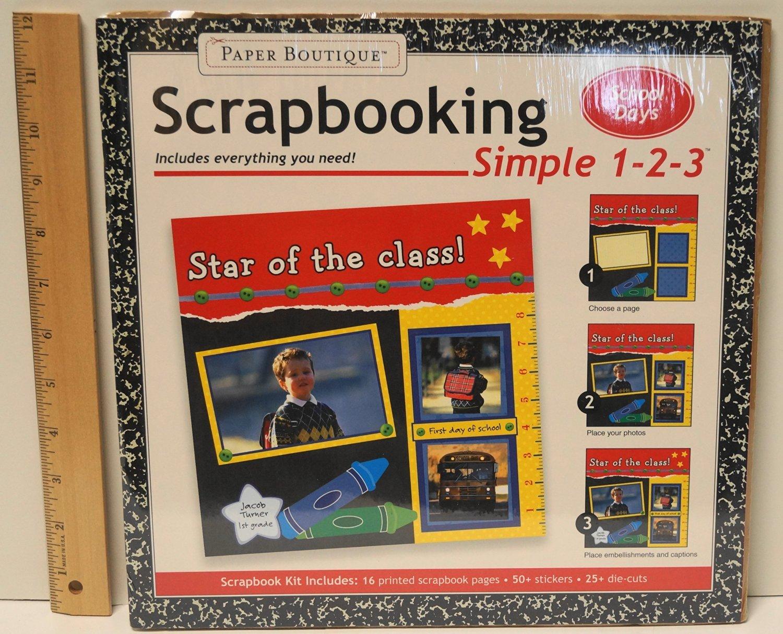 Paper Boutique Simple 1-2-3 School Days Scrapbooking. Book.