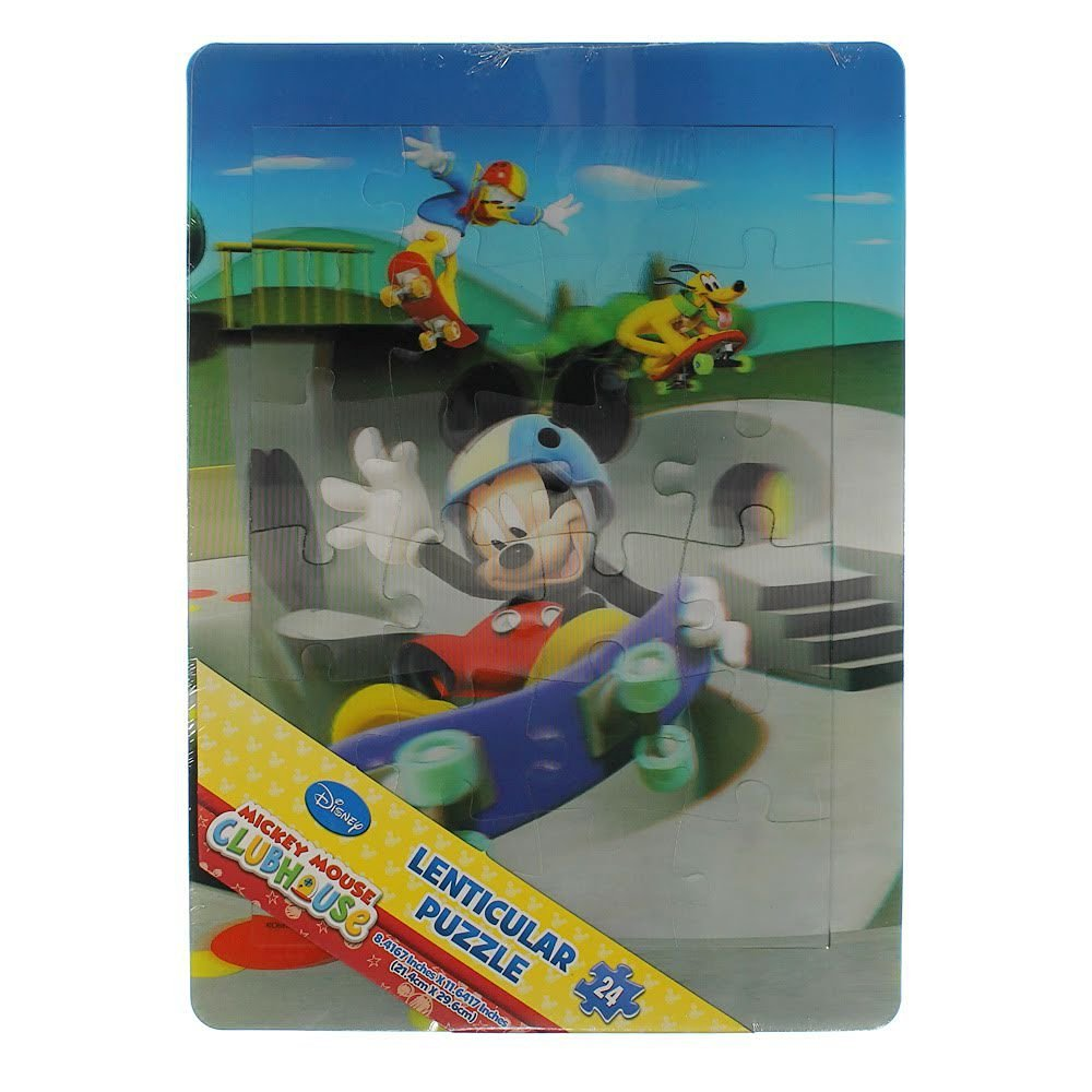 Disney Mickey Mouse 3d 24 Piece Lenticular Tray Puzzle