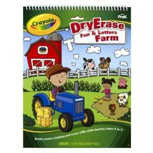 Dry Erase Activity Tablet Fun And Letters. Workbook