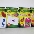 Crayola Flash Cards 4 Pack Colors & Shapes, Addition, Rhyming, Sight Words