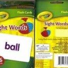 Crayola Sight Words Flash Cards