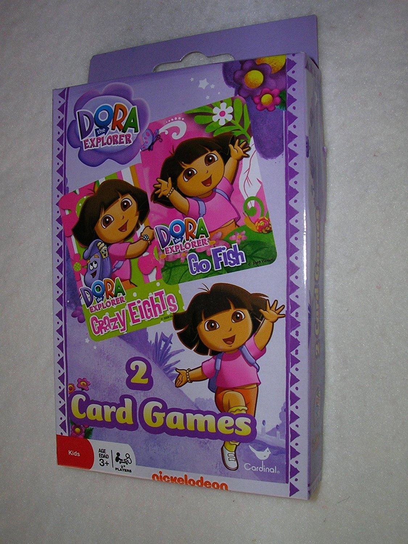 Dora The Explorer Set of 2 Card Games - Crazy Eights and Go Fish