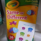 Crayola Same or Different Flash Cards, Set of 36 Flash Cards