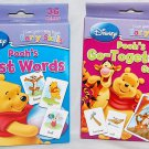 Set of 2 Disney I Can Learn with Pooh Baby Flash Cards:Pooh's First Words & Pooh's Go Together Game