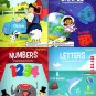 Kindergarten Educational Workbooks - Numbers, Colors & Shapes, Letters & First Words
