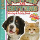 Puppies & Kittens Coloring & Activity Book Includes Stickers