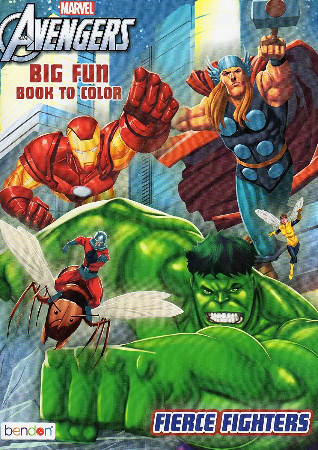 Marvel the Avengers Big Fun Book to Color - Fierce Fighters
