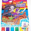 Savvi Magic Paint Posters ~ Pirates of the Sea. Water coloring book