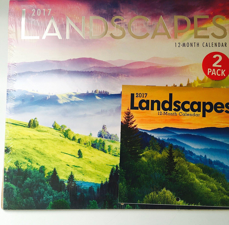 Landscapes 12-Month 2017 Calendar with Mini Calendar