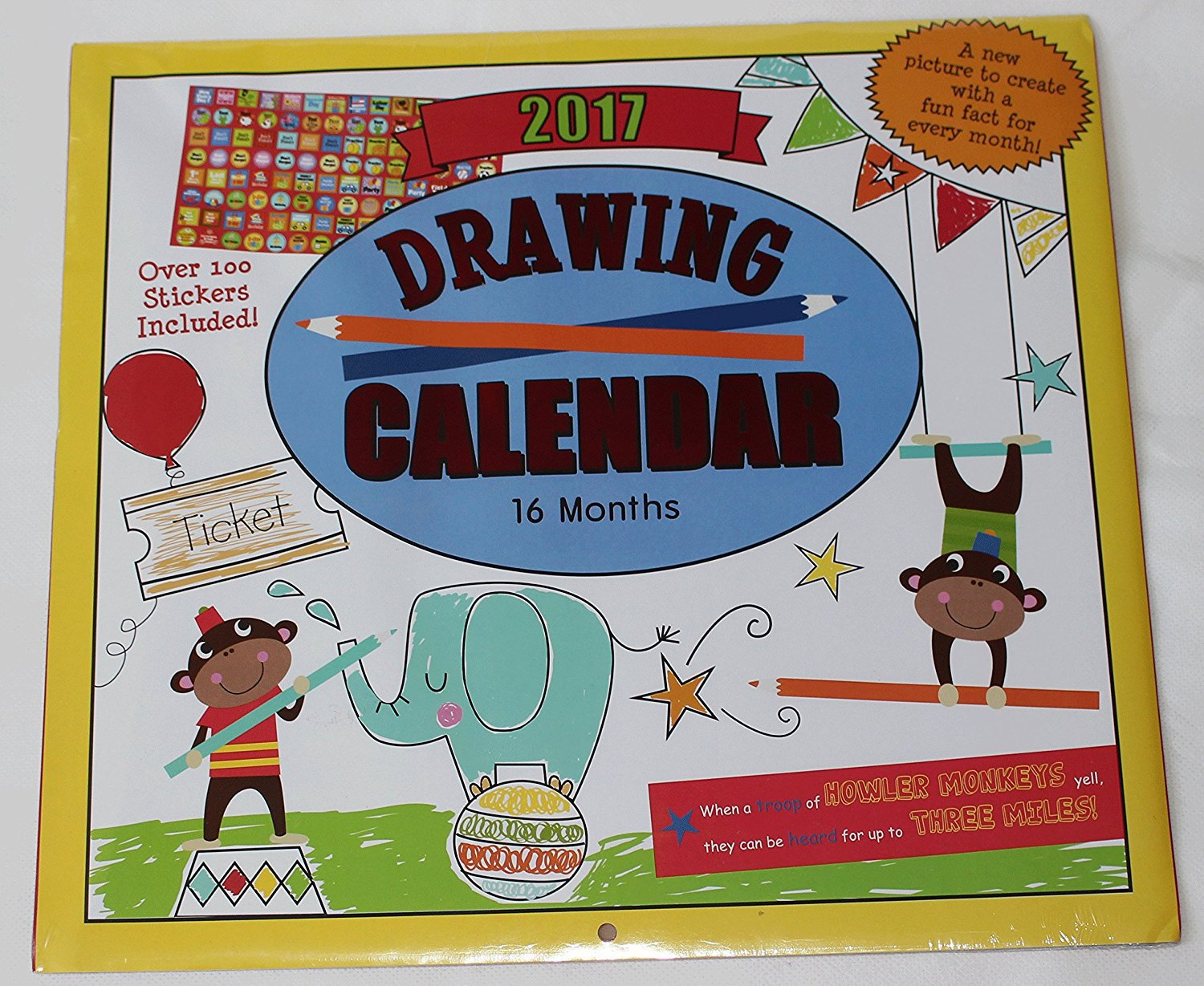 Kids Calendar With Activity Stickers : Paper craft kids childrens month calendar with