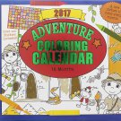Paper Craft 2017 Kids Childrens 16 Month Calendar with over 100 Stickers (Adventure Coloring)